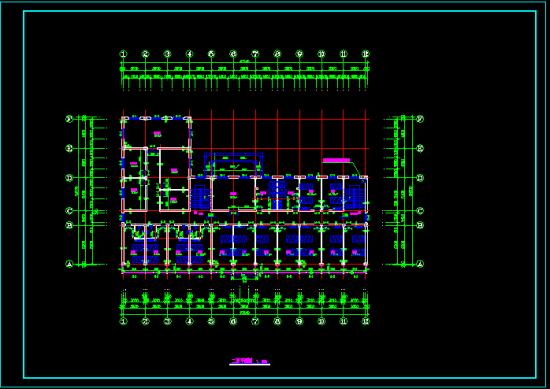 养老院建筑平面设计图展示