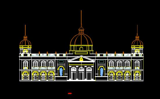 9张欧式建筑外观cad图
