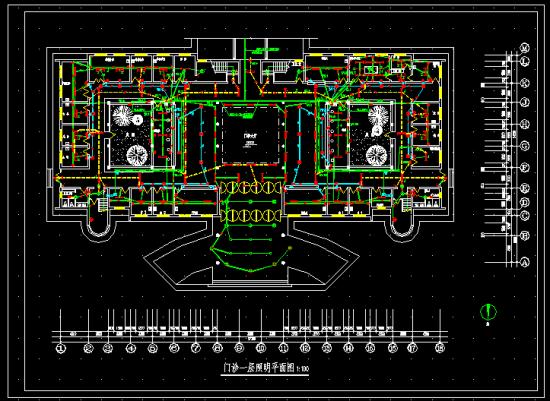 某医院电气设计图包含门诊弱电平面图