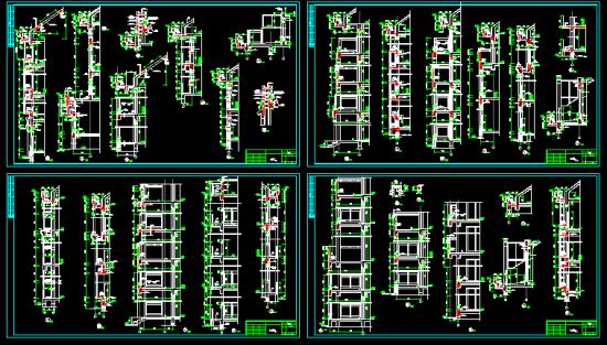异形框架柱结构全套图纸