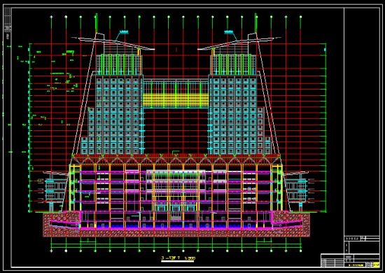 双子塔综合大楼施工图