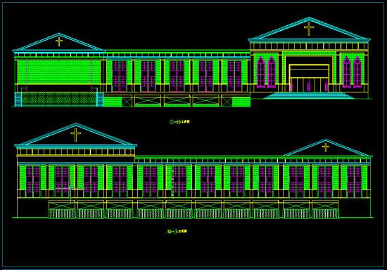 一套欧式教堂方案设计图-建筑工程资料图片